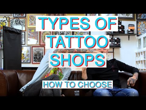How to Choose Tattoo Shop - types of shops