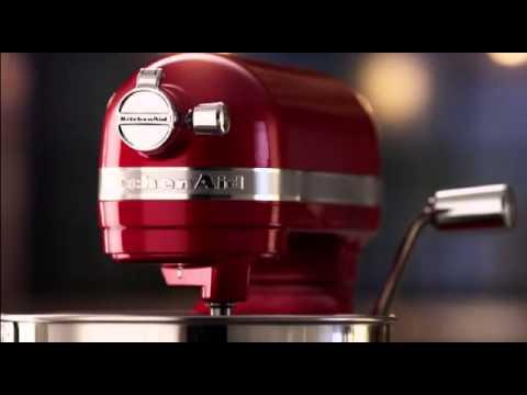 Миксеры KitchenAid Artisan с подъемной чашей на 6,9 литра - YouTube