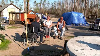 Florida Panhandle Residents Still Living In Tent Cities Six Months After Hurricane Michael thumbnail