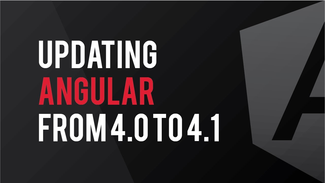 Updating Angular from 4 0 to 4 1