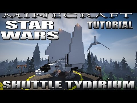 Minecraft Star Wars Tydirium Shuttle Tutorial (Lambda Class) and Landing Platform Tutorial
