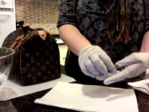 Louis Vuitton Speedy 30 Restoration Part II - Cleaning Vachetta Leather and Brass Lock, Key