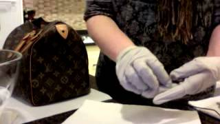 Louis Vuitton Speedy 30 Restoration Part II - Cleaning Vachetta Leather and Brass Lock, Key