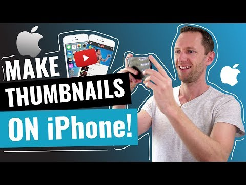 How To Make YouTube Thumbnails On IPhone & IPad!