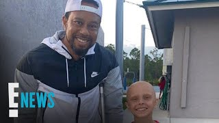 Tiger Woods Spotted On Crutches In Rare Appearance After Car Crash | E! News