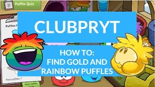 Club Penguin Reborn: Gold and Rainbow Puffles?!|ClubPRYT