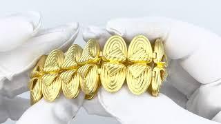 Vidéo: Bracelet signé LALAOUNIS Or jaune 18 k massif , 18 cm