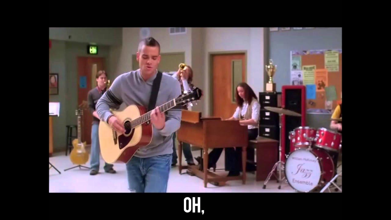 Sweet Caroline (Glee) with Lyrics - YouTube