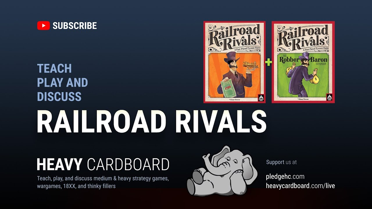 Railroad Rivals - Robber Baron Expansion by Forbidden Games
