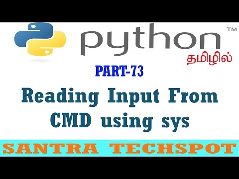 #73   Reading Input From Command Line Using Sys Package   Python Tutorial in Tamil thumbnail