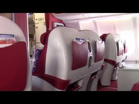 Empty Business Class Hong Kong Airlines A330 BKK-HKG