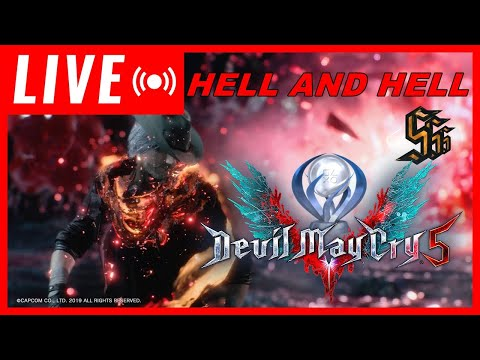 LIVE DEVIL MAY CRY 5 HELL AND HELL S RANK PLATINANDO SEM LEVAR DANO #DMC5 thumbnail
