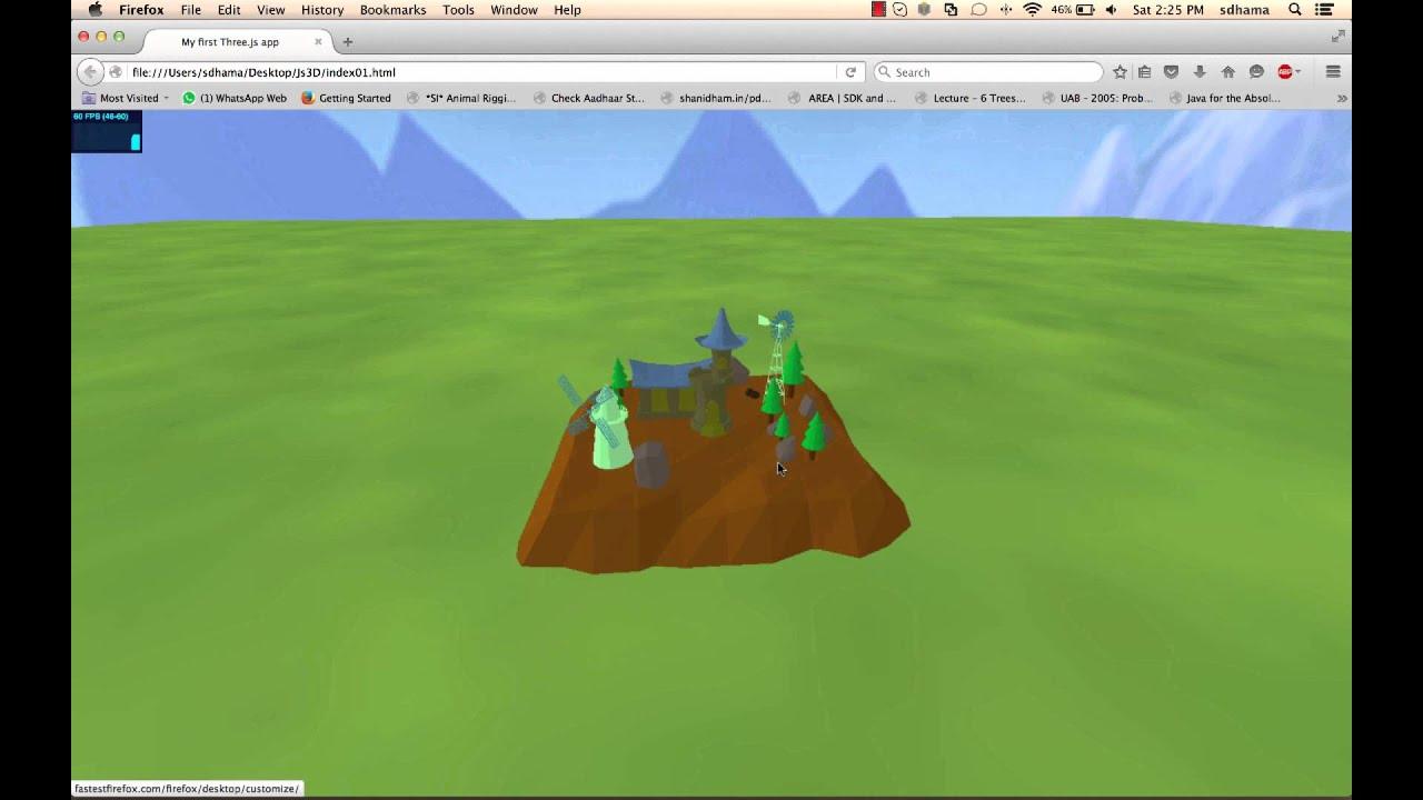 Export 3d Maya Scene To Webgl