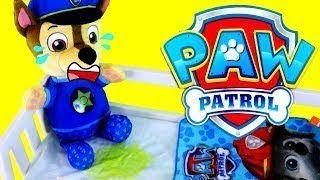Baby Learn Colors Paw Patrol Chase Wets Bed! Paw Patrol Baby Pup, Preschool Learn Colours