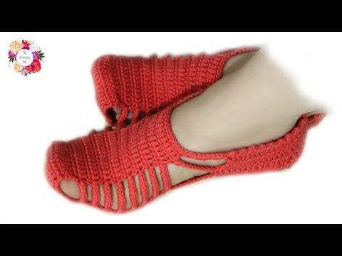 تعلمي طريقة كروشيه شراب أو سليبر نسائي لأي مقاس بطريقة سهلة جدا | Easy crochet slippers tutorial
