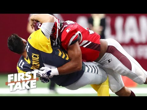 Will the AAF's violence hurt the NFL? | First Take Mp3