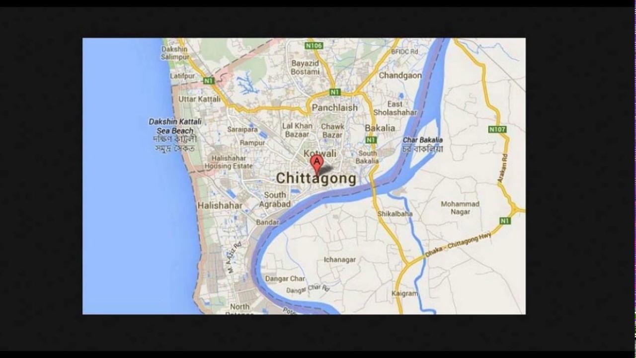 chittagong city map bangladesh Chittagong City Map Chittagong Division Youtube chittagong city map bangladesh