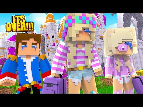 Minecraft LITTLE DONNY BREAKS UP WITH LITTLE LEAH & KICKS HER OUT!!!