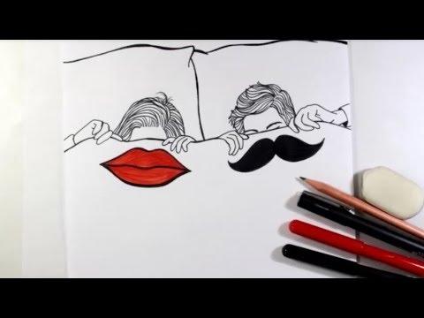 Como Desenhar Casal Estilo Tumblr Passo A Passo Youtube