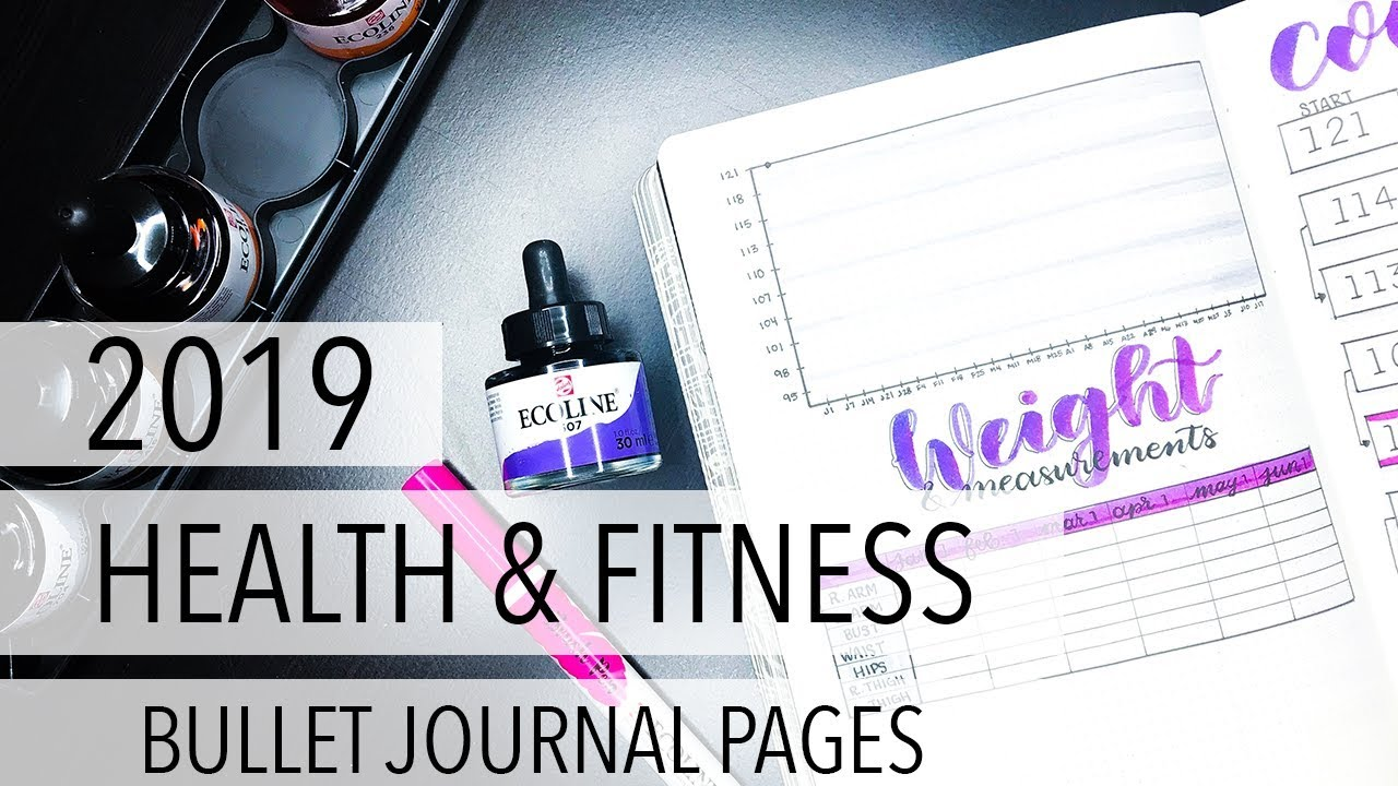 2019 Health & Fitness Bullet Journal Pages image