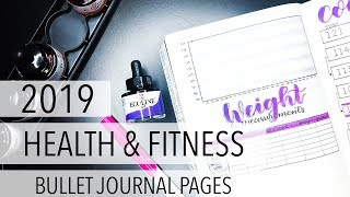 2019 Health & Fitness Bullet Journal Pages