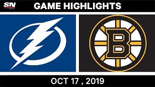 NHL Highlights | Lightning vs Bruins - Oct 17 2019