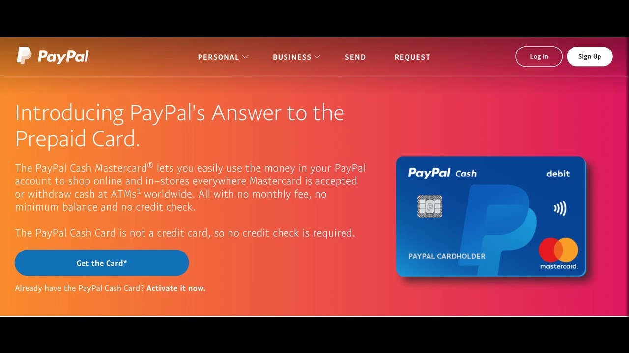 Paypal Prepaid Mastercard Debit card GET 20 dollars FREE upon sign up    Code in description