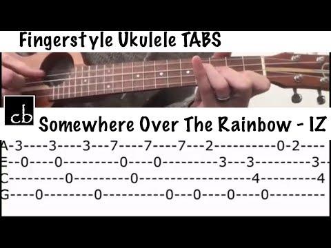 Somewhere Over The Rainbow - Bruddah IZ (FINGERSTYLE Ukulele TUTORIAL)