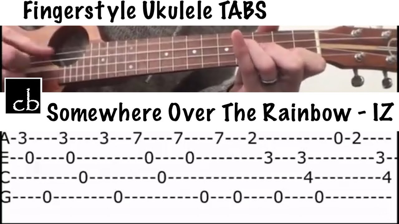 Somewhere Over The Rainbow Bruddah Iz Fingerstyle Ukulele