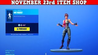 Fortnite Item Shop (November 23rd) | FREE *NEW* EMOTE!