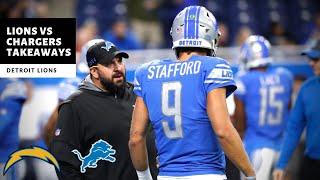 Lions Vs Chargers Takeaways! Initial Reactions! Detroit Lions Talk