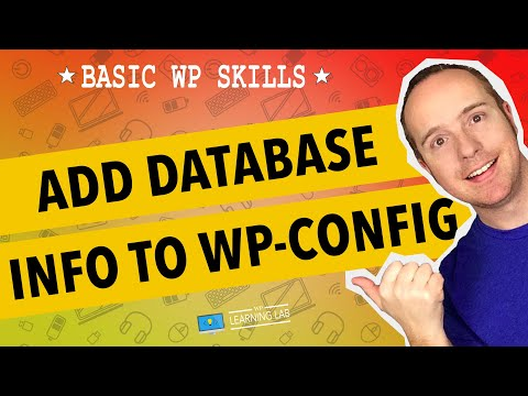 Edit wp-config.php To Add WordPress Database Credentials   WP Learning Lab