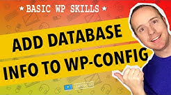 Edit wp-config.php To Add WordPress Database Credentials | WP Learning Lab