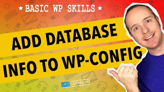 Baixar - Edit Wp Config Php To Add Wordpress Database Credentials Wp Learning Lab Grátis