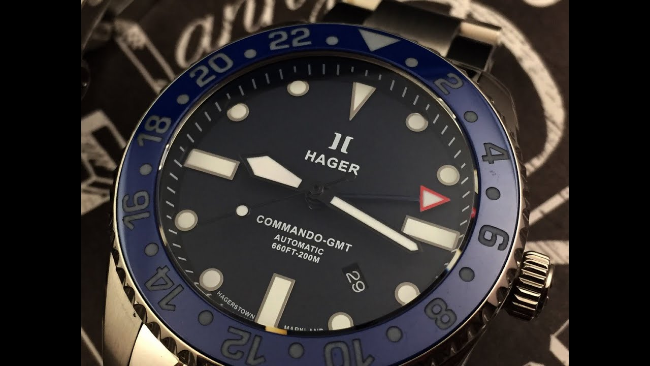 Hager Watches Commando Professional Watch Review Youtube