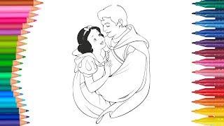 Biancaneve E Principe Per Bambini Come Disegnare E Colorar