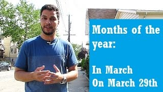 Months of the Year - English Class(prepositions)