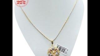 Nữ trang bộ vàng 18k hoa tình yêu, Bộ trang sức nữ, Bộ trang sức, TSVN013779