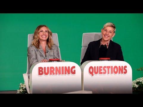 Julia Roberts Plays 'Burning Questions'