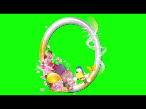 🍀ПАСХАЛЬНЫЕ РАМКИ 4 ШТ. Футаж. Хромакей. Зелёный экран. Chroma Key. Green Screen.