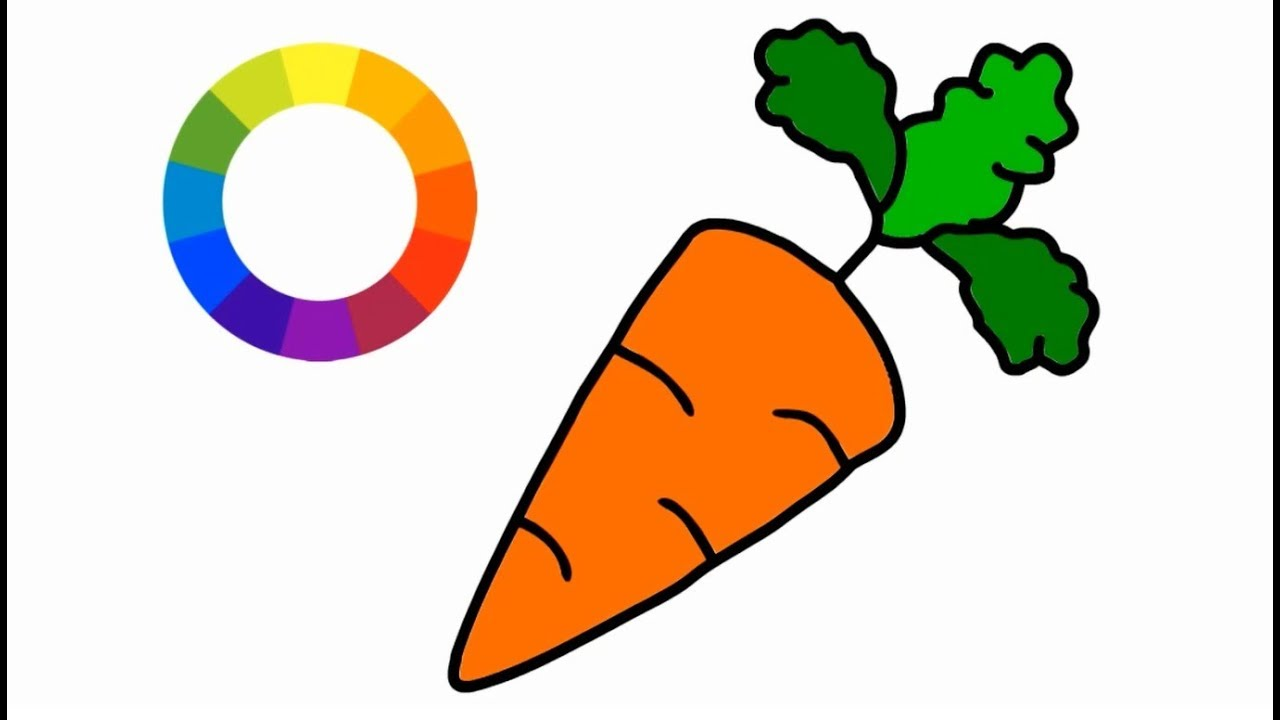 How To Draw Carrots Step By Step And Coloring For Child Little