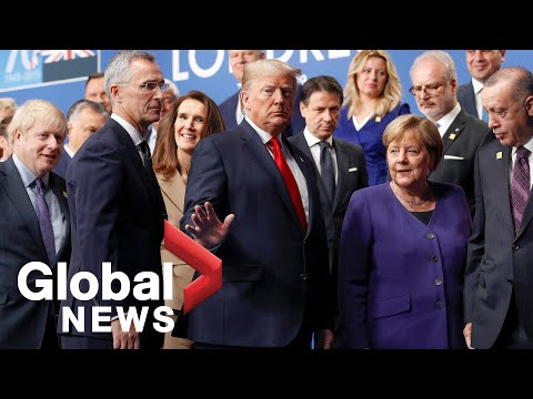 NATO summit: World leaders pose for