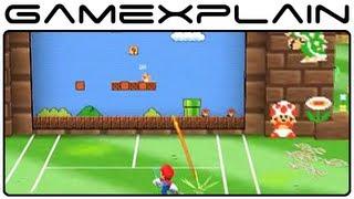 Mario Tennis Open - Super Mario Tennis 1-1 Special Game (Gameplay Footage - Nintendo 3DS)