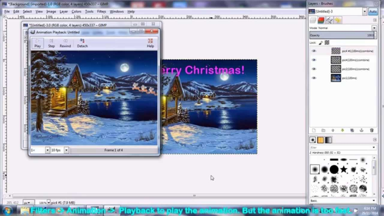 How to make christmas animated gif ecard using free software gimp how to make christmas animated gif ecard using free software gimp youtube negle Choice Image