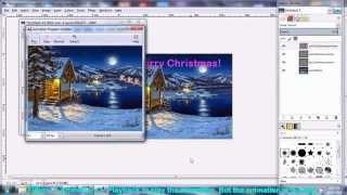 How to make Christmas Animated gif Ecard using free software Gimp
