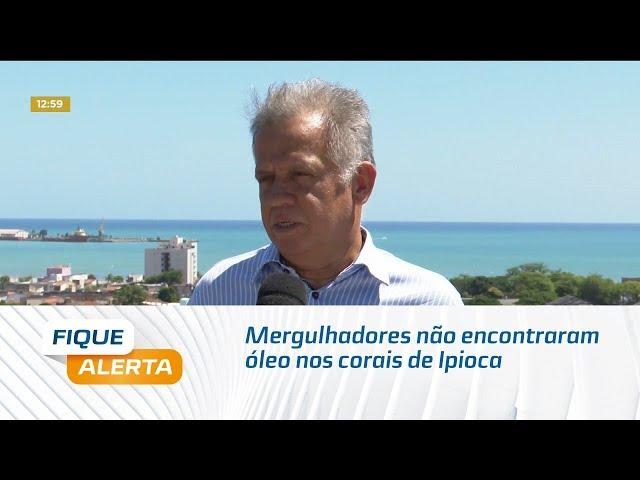 Mergulhadores não encontraram óleo nos corais de Ipioca