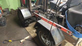 как сделать крылья на трактор