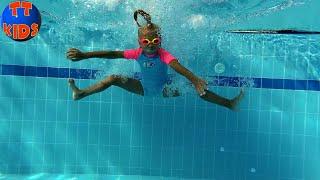 Интересные Моменты с Ярославой ЗА КАДРОМ в АКВАПАРКЕ Giant Water Inflatable Trampoline