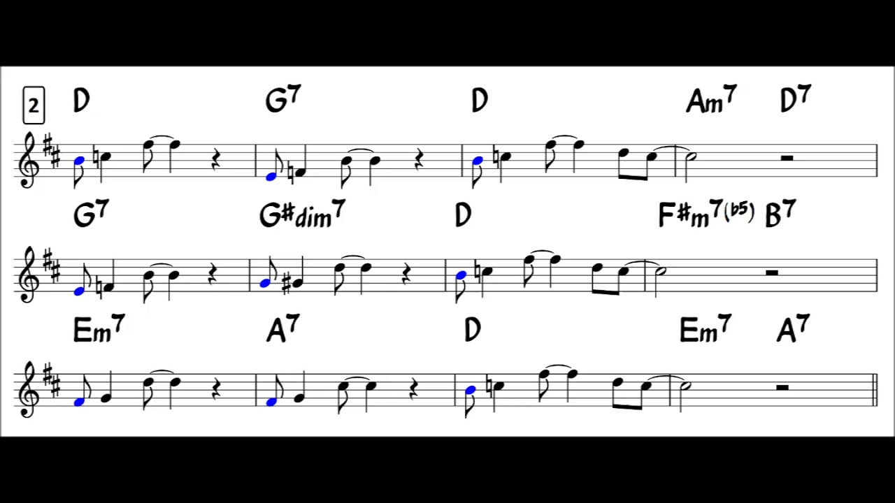 Blues in F - Easy Solo Example for Alto Sax - Approach Note -1