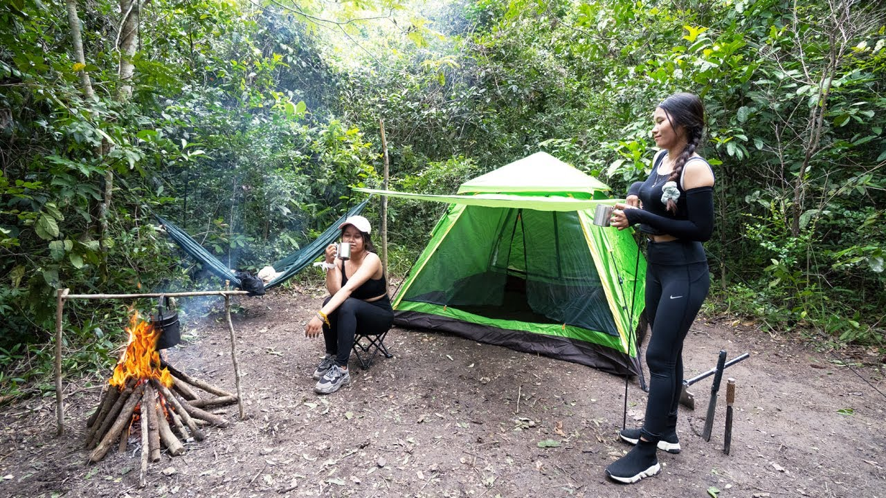 Download Solo Overnight Trip - Survival Winter Camping in Rainforest - Living Together